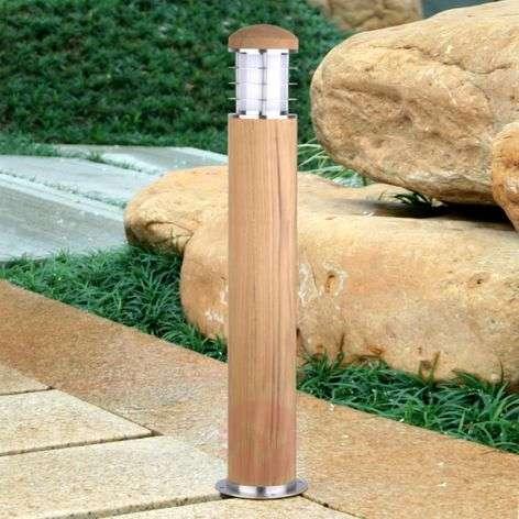 Poole Path Light Teak Wood