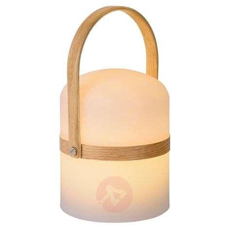 Portable LED table lamp Joe, indoors, outdoors