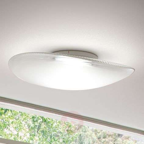 Powerful Loop glass ceiling light with LED 3000K