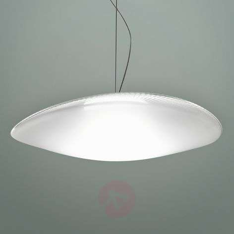 Powerful Loop glass hanging light with LED, 3000 K
