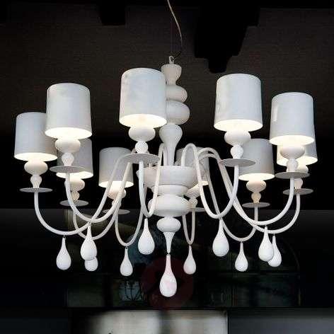 Prestigious chandelier Eva S10, white
