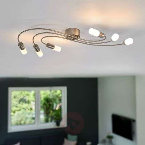 Prettily shaped LED ceiling light Valenzia