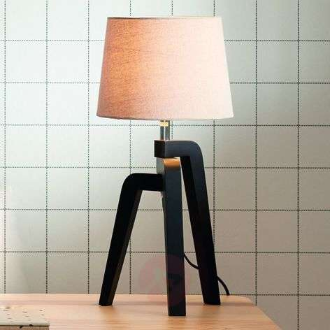 Pretty Gilbert tripod table lamp with fabric shade