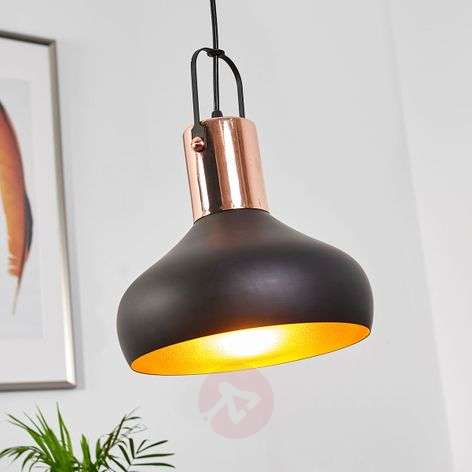 Pretty hanging lamp Batu, black and gold-9634063-32