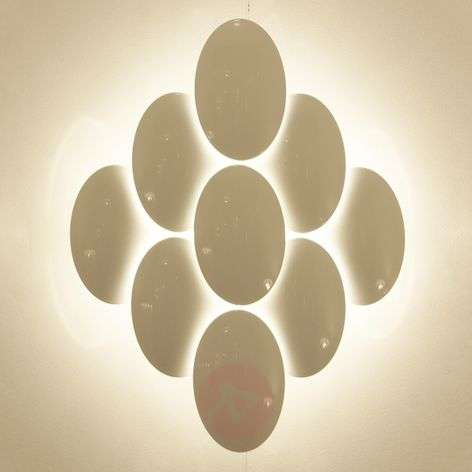 Pretty LED wall light Obolo dimmable - eight-bulb