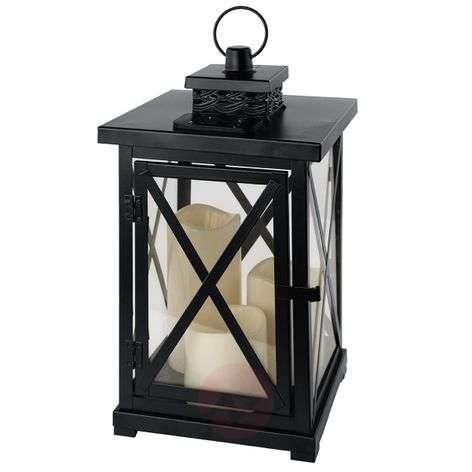 Pretty solar lantern Margo with 3 LED candles