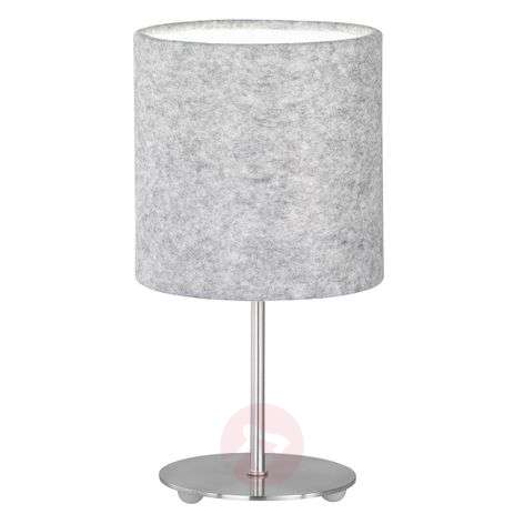 Pretty table lamp Balder with a felt lampshade