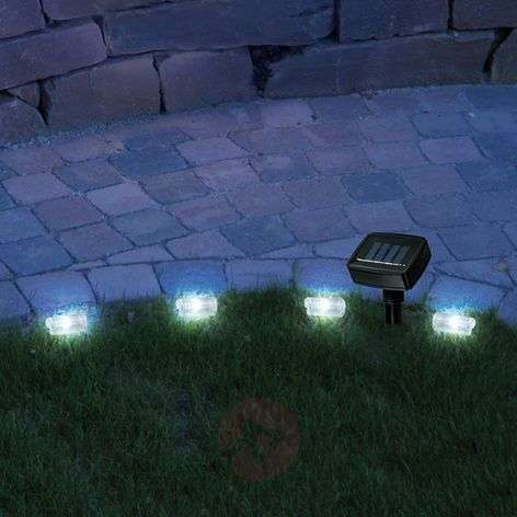 Promenade solar lawn edge string lights with LED