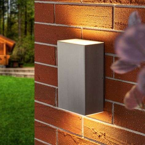 Puristic LED wall lamp Jana for outdoors - IP54