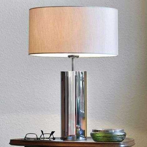 Puristic table lamp Prague, round