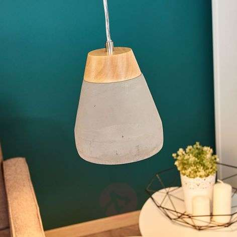 Puristic Tarega hanging light with concrete look