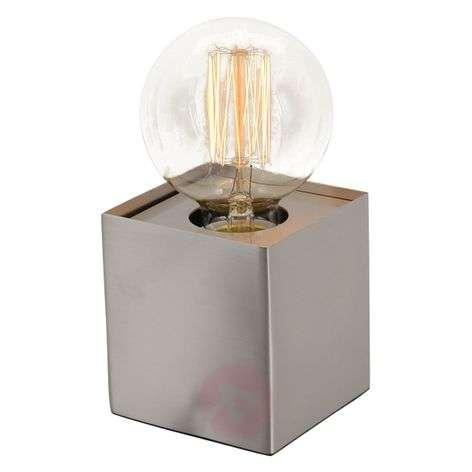 Quadro - minimalist table lamp, bare steel