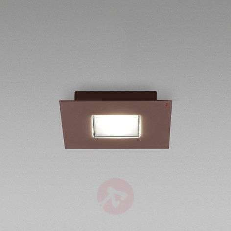 Quarter - a LED ceiling lamp with a brown rim