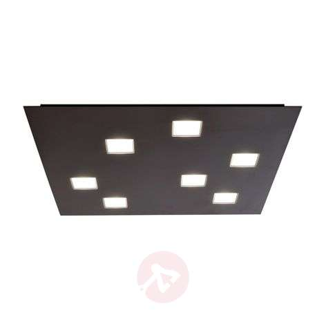 Quarter - seven-bulb LED ceiling lamp in black