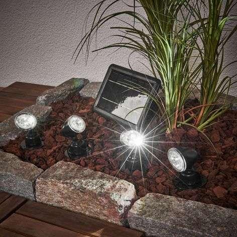 Quattro Power solar spotlight set