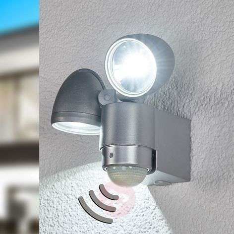 RADIAL Two Lamp LED Exterior Wall Spot