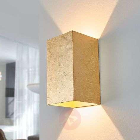 Ragi angular LED wall lamp in gold