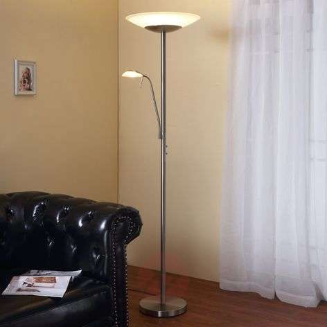 Ragna - LED floor lamp w. integrated reading lamp