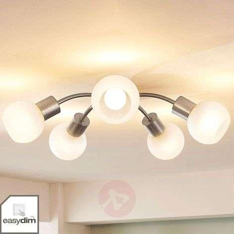 Ray-shaped LED ceiling light Tanos, Easydim