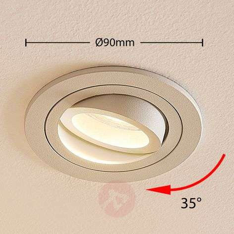 Recessed light Enne with a round form, white