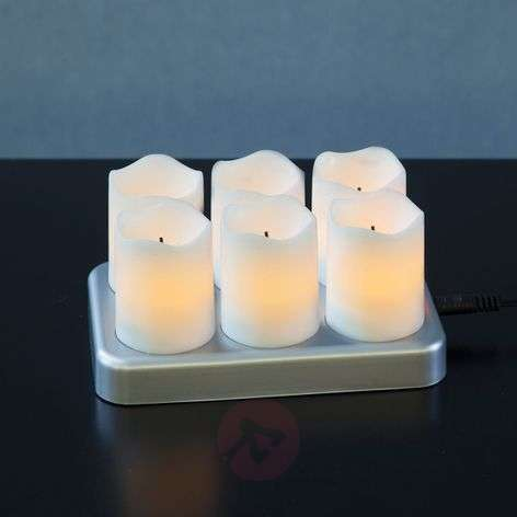 Rechargeable LED tea light Chargeme, set of 6