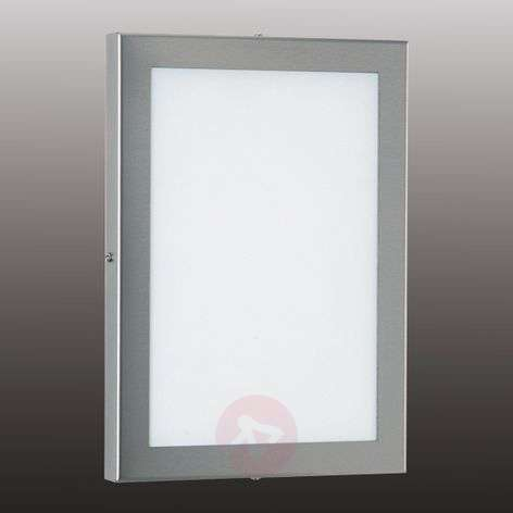 Rect. LED outdoor wall lamp Alina, st. steel