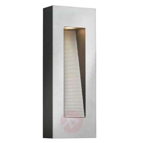 Rectangular Lunias outdoor wall light titanium