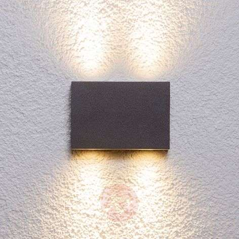 Rectangular outdoor wall light Henor with 4 LEDs