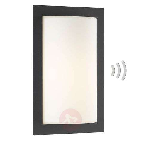 Rectangular sensor wall light Luis for outdoors