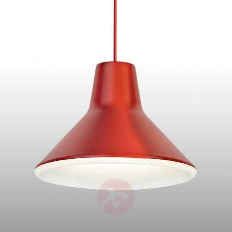 Red designer hanging light Archetype, LED