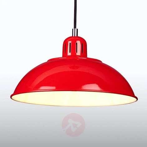 Red pendant lamp Franklin in a retro design