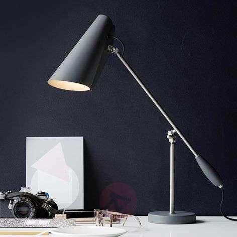 Retro table lamp Birdy, grey