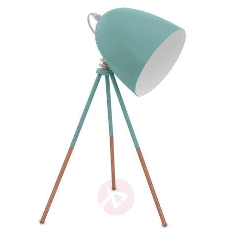 Retro table lamp Dundee in mint green