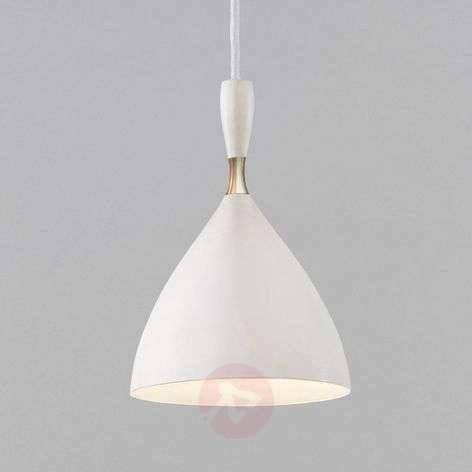 Retro white hanging light Dokka, made of steel