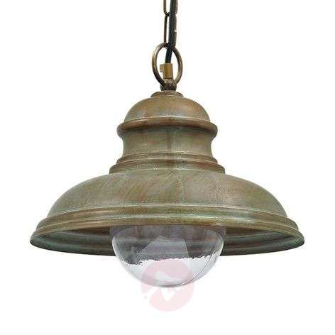 Riccardo outdoor hanging light, chain, hemisphere