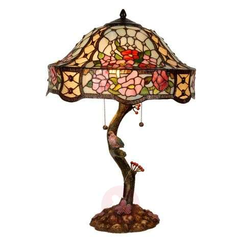 Richly-decorated table lamp Claire