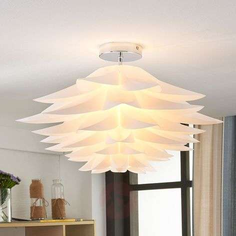 Rimon floral ceiling light in white