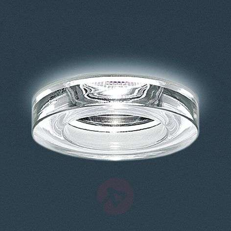 Ring-shaped recessed lamp Iside 2 with clear glass