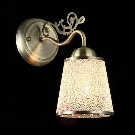 Ring - wall light with effective glass lampshade