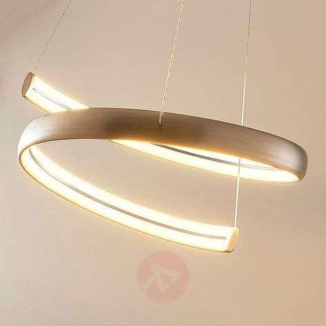 Risto LED hanging light in nickel