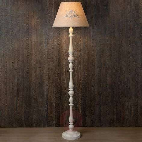 Robin floor lamp with fabric lampshade