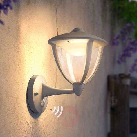 Robin LED outdoor wall light with motion detector