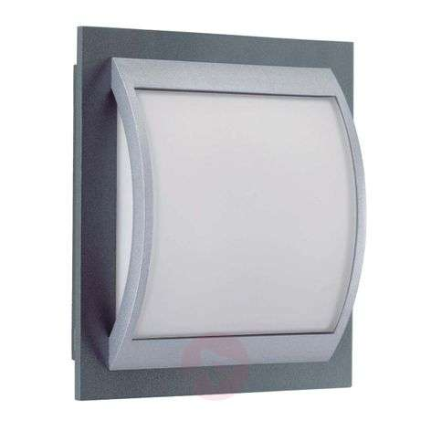 Robust outdoor wall light Marcia with opal glass