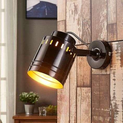 Rodrigo black-gold wall lamp