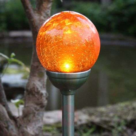 Roma - solar ground spike light with amber LED