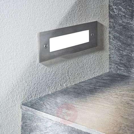 Roni LED deck light, stainless steel, 19.5 cm