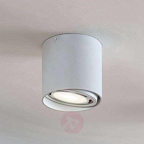 Rosalie LED downlight, 1-bulb, round, white