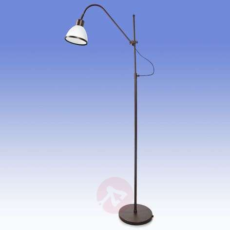 Rotatable and pivotable floor lamp Lorenia