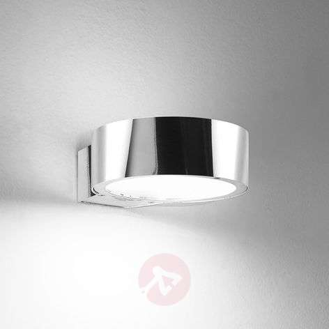 Rotatable LED wall light Anello 8 W, polished alu