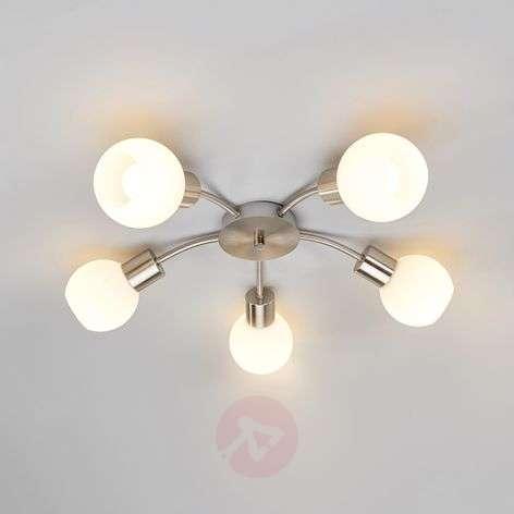 Round 5-bulb LED ceiling light Elaina, matt nickel-9620034-31